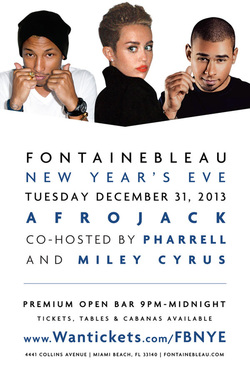 Afrojack and Pharrell New Year's Eve