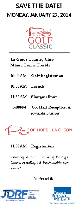 Ray Allen Golf Classic Miami
