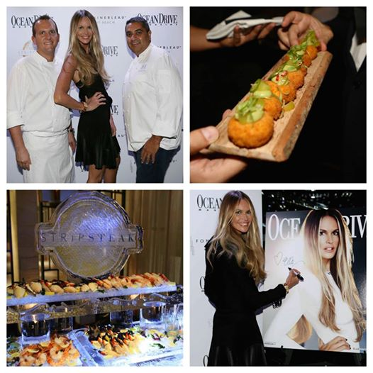Elle Macpherson At Fontainebleau StripSteak Grand Opening